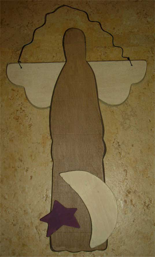 Free primitive angel pattern for a christmas ornament