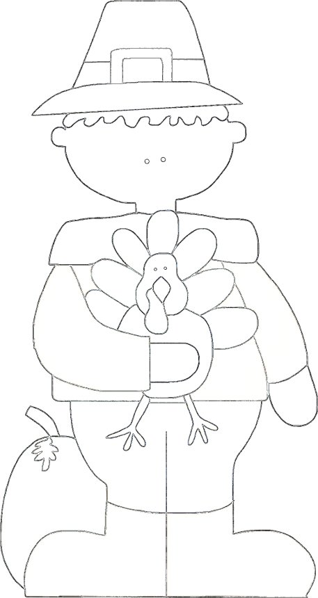 Boy pilgrim thanksgiving coloring page for Boy pilgrim coloring page