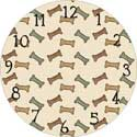 Dog Bones Clock Face
