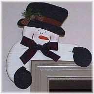 Snowman idéias de artesanato - Padrão de boneco de neve Grátis canto