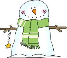 Snowman Star and Wearing a Scarf