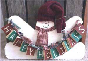 Snowman Boas festas - padrões de pintura tole para bonecos de neve