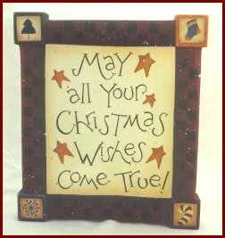 Christmas Wishes - Christmas wood crafts
